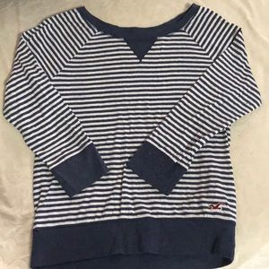 Hollister Navy/white stripes shirt